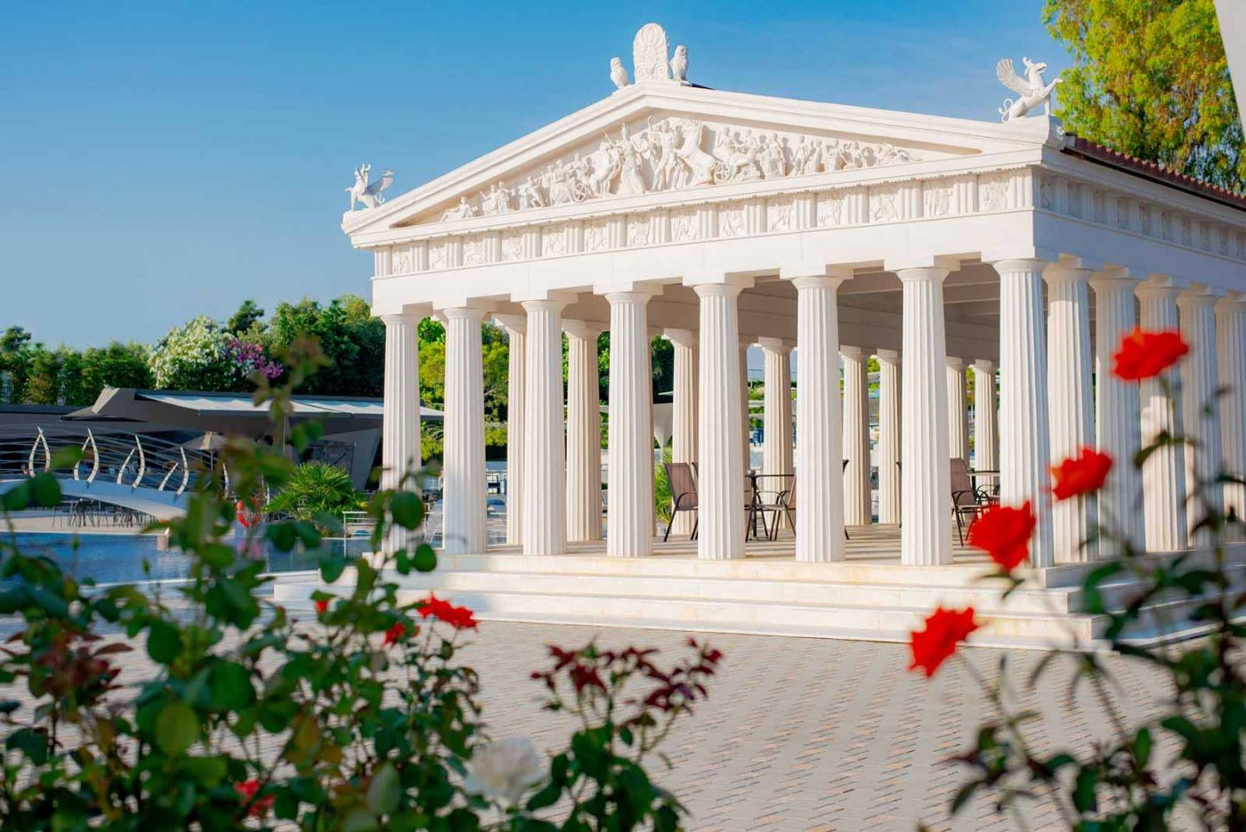 Parthenon in spring