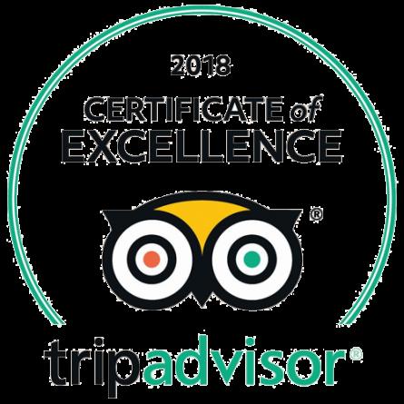 TripAdvisor Certificate of Excelence 2018 Potidea Palace Hotel